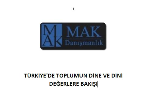MAK – Türkiye'de toplumun dine ve dini değerlere bakışı