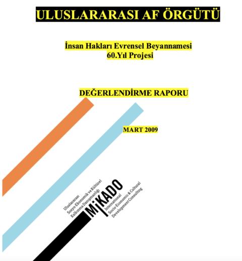 Mikado – Uluslararası Af Örgütü İnsan Hakları Evrensel Beyannamesi 60.Yıl Projesi Değerlendirme Raporu Mart 2009